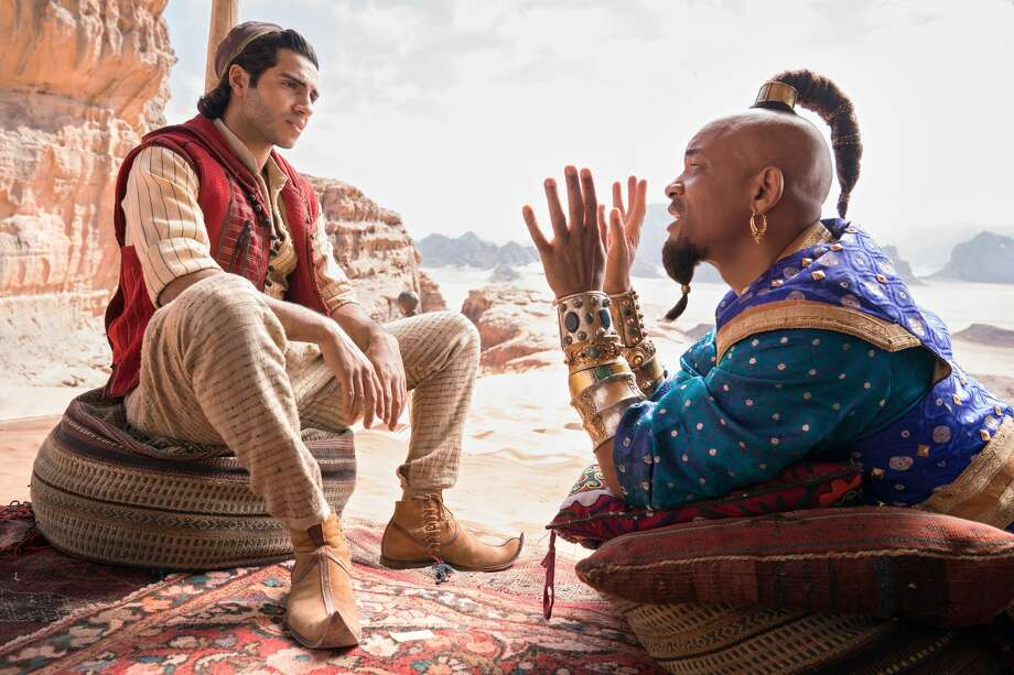 Mena Massoud and Will Smith in 'Aladdin.' (Disney)