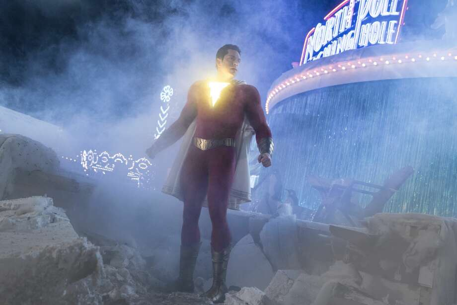 "This image released by Warner Bros. shows Zachary Levi in a scene from ""Shazam!"" (Steve Wilkie/Warner Bros. Entertainment via AP)"
