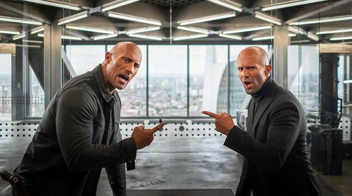 Dwayne Johnson and Jason Statham in 'Hobbs & Shaw.' (Universal)