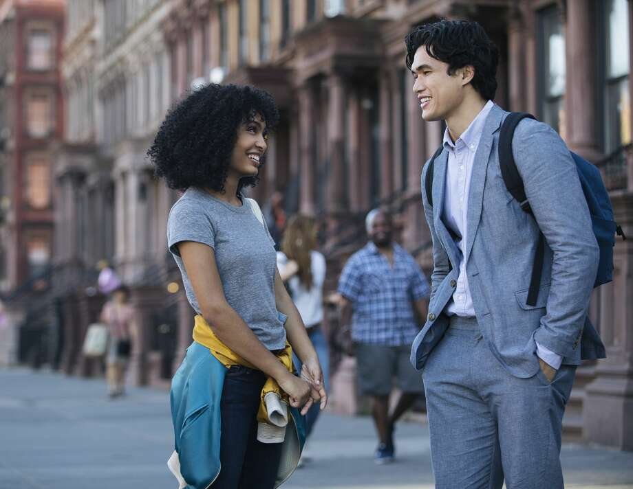 Charles Melton and Yara Shahidi in 'The Sun Is Also a Star.' (Warner Bros)