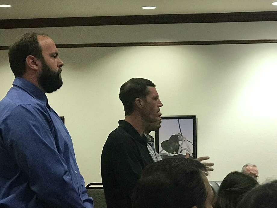 Southern Star Design and Building has a vision for a new townhouse development in the heart of downtown Montgomery. A discussion-only item was presented at the Montgomery City Council meeting last Tuesday. Greg Doster, Darr Nieuwoudt, and Johnathan Canizalez, who grew up in Montgomery County and have experience building residential and commercial developments in the area, informally shared preliminary plans for proposed development at 1062 Clepper Street. Photo: Meagan Ellsworth / Meagan Ellsworth