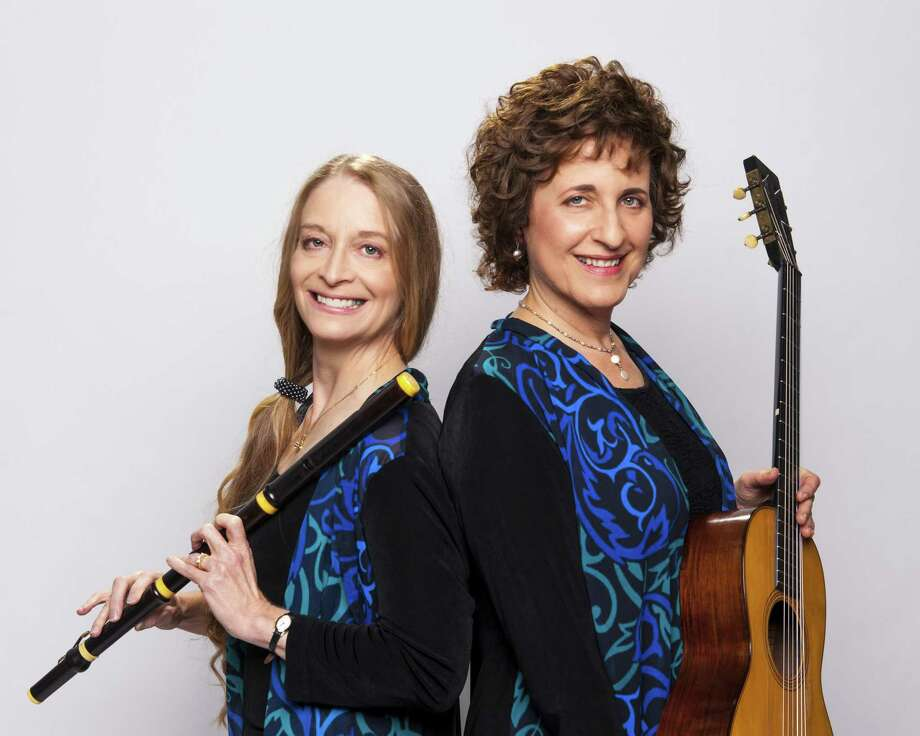 The Rosewood Chamber Ensemble, comprised of flutist Barbara Hopkins and guitarist Judy Handler, will perform April 7 in Kent. Photo: Contributed Photo /