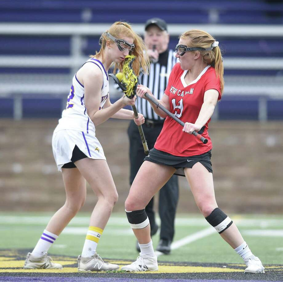 New Canaan defeated Westhill 18-0 in a girls lacrosse game at Westhill High School Tuesday, April 2, 2019 in Stamford, Connecticut. Photo: Matthew Brown / Hearst Connecticut Media / Stamford Advocate