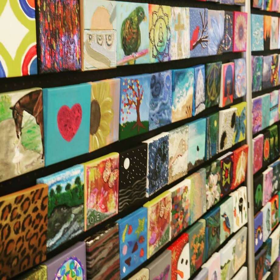 Middletown-based Artists for World Peace are hosting an art sale and interfaith dialogue in Middletown Sunday, April 7, 2019. The group's Peace Wall will be exhibited and pieces will be available for sale to support AWP's chairty work. Photo: Contributed Photo /