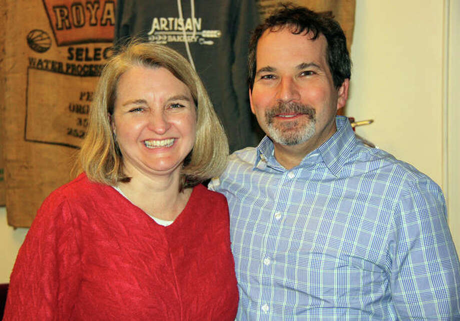 Edwardsville Ward 1 Alderman Chris Farrar, right, and his wife, Pam, pose last year during aldermanic races for city council.