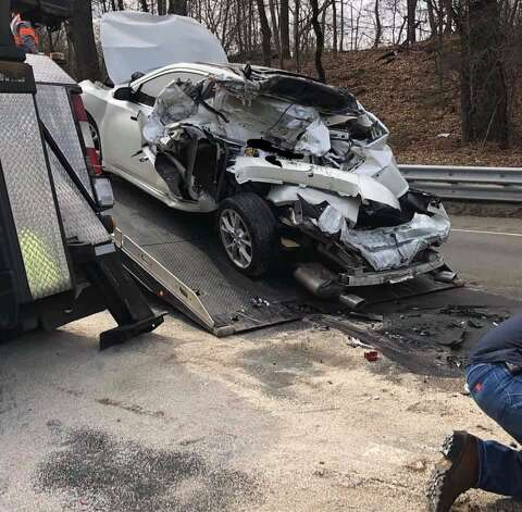 Photos: This driver in I-95 accident is lucky to be alive