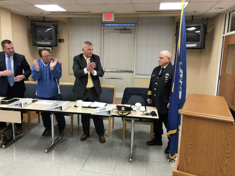 Joseph Perno was named the interim chief for the West Haven Police Department Tuesday evening. Photo: Ben Lambert / Hearst Connecticut Media
