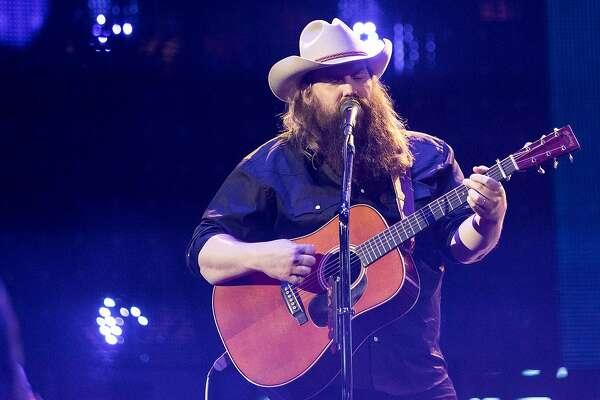 Chris Stapleton performs during RodeoHouston at NRG Stadium on Thursday, March 14, 2019, in Houston.
