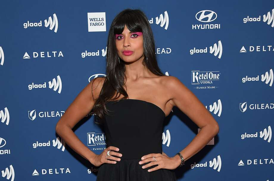 Actress Jameela Jamil arrives at the 30th Annual GLAAD Media Awards at the Beverly Hilton Hotel in Beverly Hills on March 28, 2019. (Photo by LISA O'CONNOR / AFP)LISA O'CONNOR/AFP/Getty Images Photo: Lisa O'connor, AFP/Getty Images
