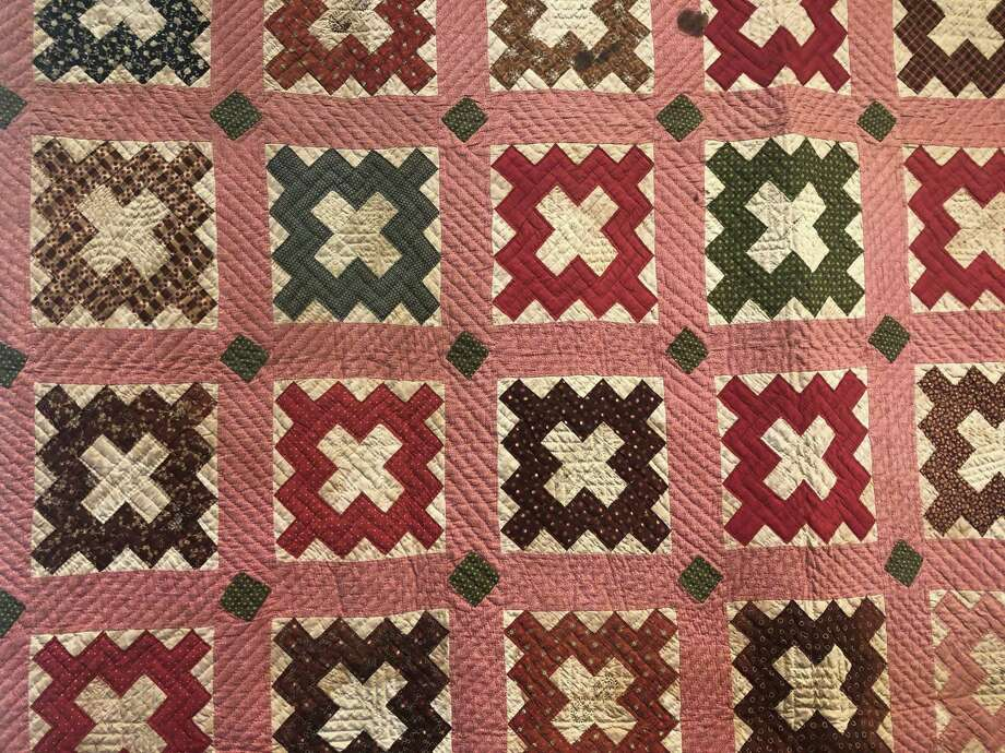 A signature quilt on display at the Fairfield Museum Photo: Contributed Photo