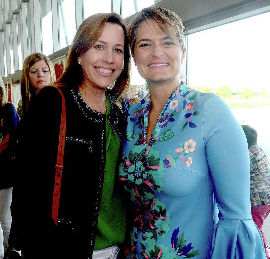 Monica Broussard and Gigi Mazzola were at the official unveiling of the Neches River Festival's King Neches LXXI Tuesday at the Event Centre. Photo taken Tuesday, April 2, 2019 Kim Brent/The Enterprise Photo: Kim Brent/The Enterprise