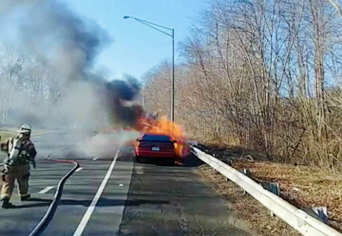 Around 9 a.m. Wednesday, April 3, 2019 Echo Hose Hook and Ladder reported Companies 1 and 3 were dispatched to Route 8 in the area of Exit 12 for a motor vehicle fire in Shelton.