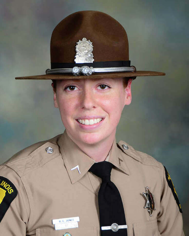 In this undated photo provided by the Illinois State Police is Trooper Brooke Jones-Story, who was killed in the crash that occurred on Route 20 near Route 75 Thursday, March 28, 2019, in Freeport, Ill. Jones-Story was inspecting a commercial motor vehicle at the time of the crash and is the second state trooper killed in a crash this year. Trooper Christopher Lambert was fatally hit by a vehicle in January while he directed traffic during a snow storm near a crash on I-294 near Northbrook. Photo: Illinois State Police Via AP