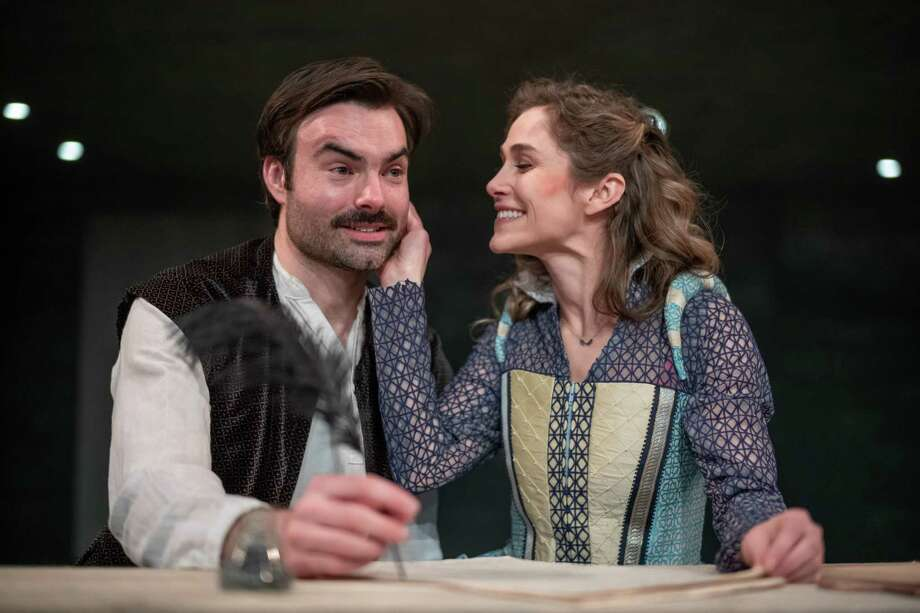 "Christian Ryan and Jenny Strassburg in ""Shakespeare in Love."" photo: Richard Lovrich Photo: Richard Lovrich/Proctors"