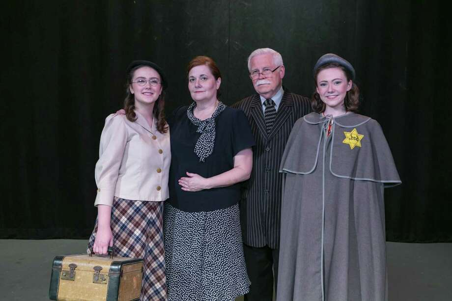 "The Frank family in Stage Right's ""The Diary of Anne Frank"" which opens at the Crighton Theatre on April 12. Pictured are Mackenzie Mann as Margot, Maria Sirgo as Edith, John Sallinger as Otto and Katie Kowalik as Anne. Photo: Photo By Michael Pittman / Michael Pittman all rights reserved"