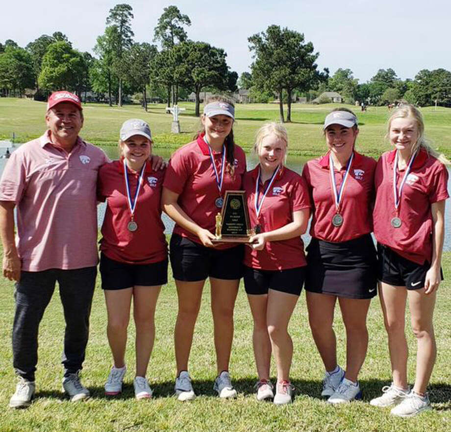 The Splendora girls golf team poses for a photo after placing second in the District 21-4A golf tournament April 2, 2019. Photo: Submitted/Marcus Schulz