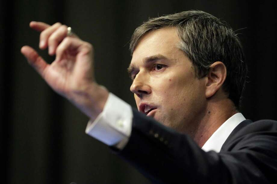 Democratic presidential candidate and former Texas congressman Beto O'Rourke speaks during the National Action Network Convention in New York, Wednesday, April 3, 2019. (AP Photo/Seth Wenig) Photo: Seth Wenig, STF / Associated Press / Copyright 2019 The Associated Press. All rights reserved.