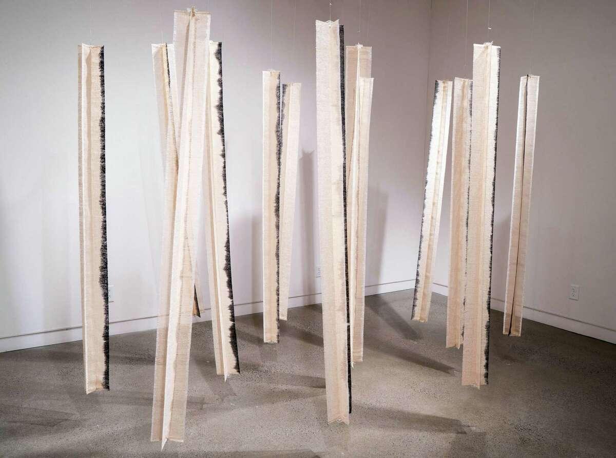 Hiroko Ote, Close to Cloth, Paper yarn and silk, 2000. Photo Wm Jaeger