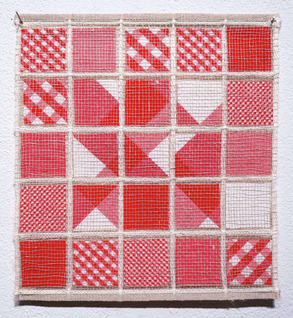 Hiroko Ote, Sealed Gingham Check A, 2001. Linen, cotton. Photo Wm Jaeger