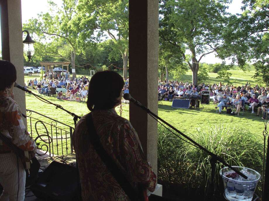 Concerts are always a community affair at local wineries. The Fab Five performs at Bernhardt Winery on May 2, 2010. The group returns to the area at Wild Stallion Vineyards this Saturday.