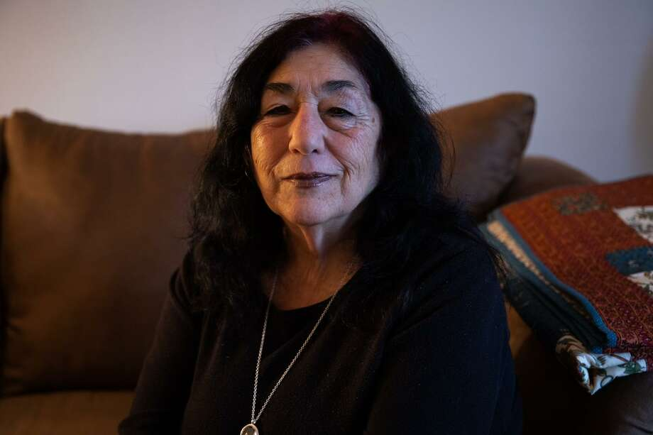 Rita Pompano, 76, of West Haven, says she was a victim of elder abuse in 2011, when her husband Ralph tormented her and beat her daily for seven months before she was able to escape with her son's help. Photo: Carl Jordan Castro / C-Hit.org / CARL JORDAN CASTRO PHOTO