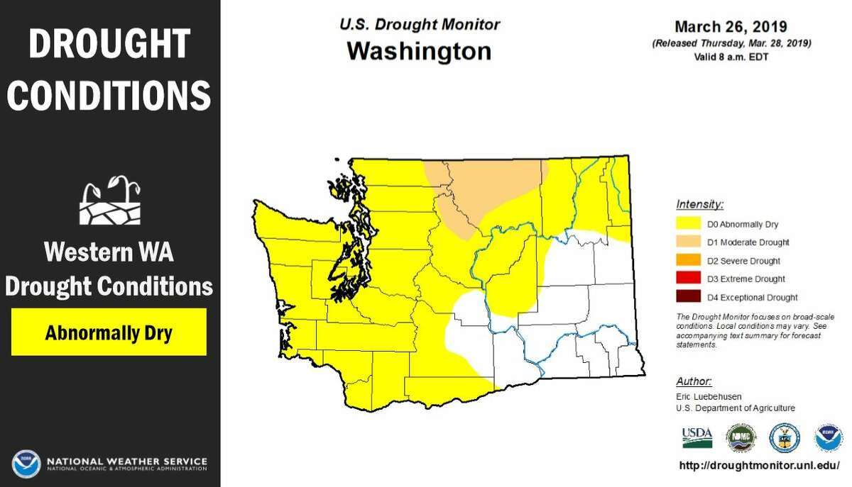 Most of the state was expected to have drier than normal conditions this season, with drought possible.
