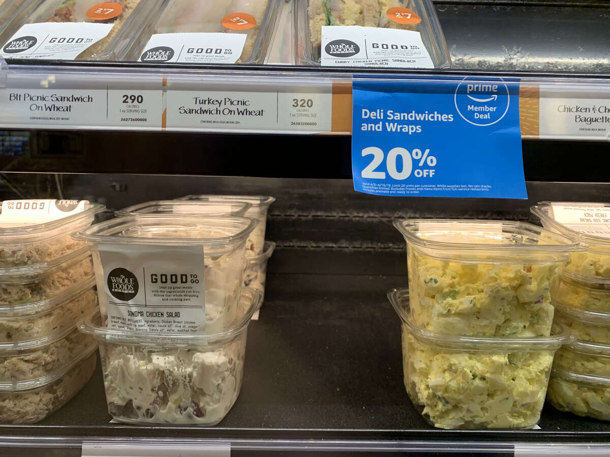 Whole Foods is introducing new weekly deals exclusively for Prime members. One of these is 20 percent off prepared sandwiches and wraps.
