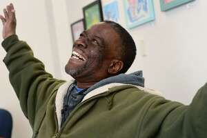 Keystone House client Jerome Barr at Keystone's facility on Main Street Tuesday, April 2, 2019, in Norwalk, Conn. Keystone House, a Norwalk nonprofit that supports people living with mental illness, is hosting its biggest fundraiser on April 6 at the Norwalk Inn where Barr will give the keynote address with Peer Support Specialist Alima Davis.