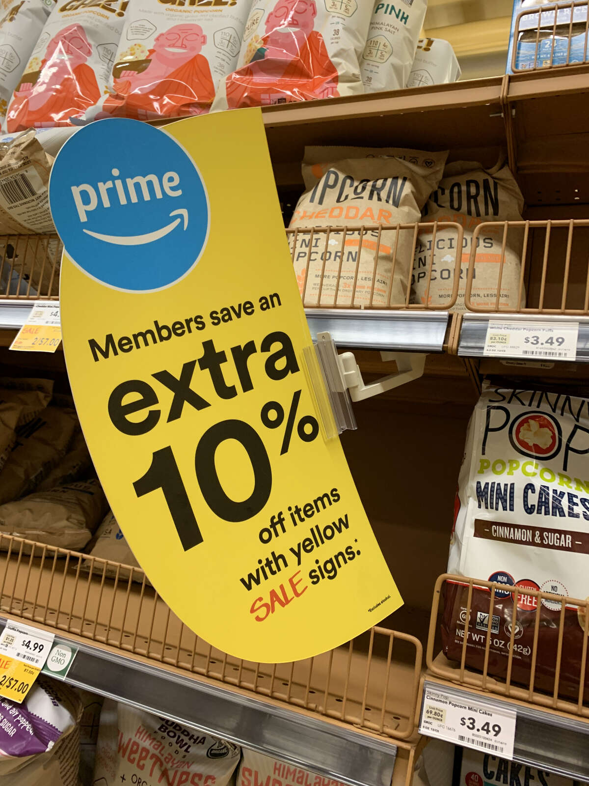 Prime members also save an extra 10 percent off items with yellow sale signs.