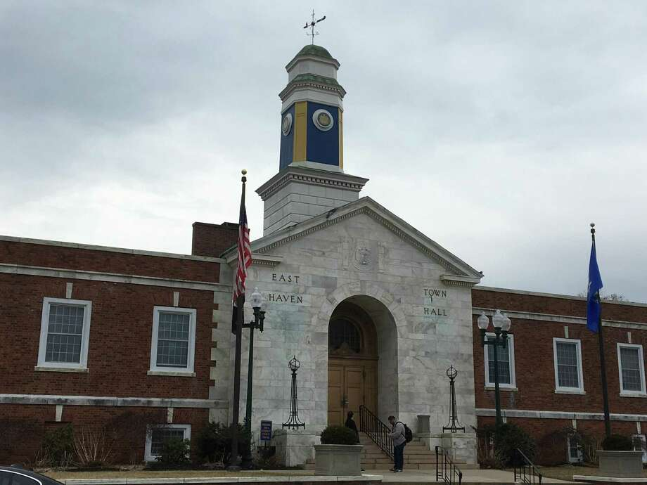 East Haven Town Hall, photographed on March 29. Photo: Mark Zaretsky / Hearst Connecticut Media