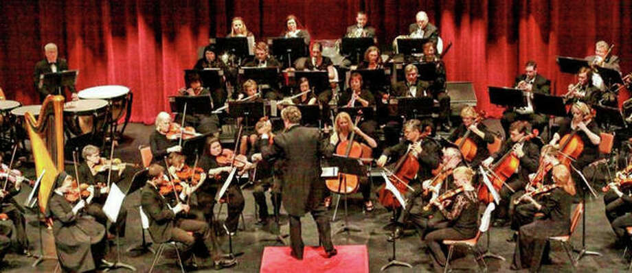 Alton Symphony Orchestra, with Maestro Shane Williams at the helm, performs a previous concert.