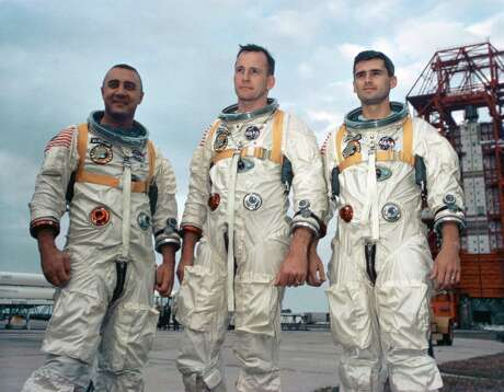 The deaths of astronauts Gus Grissom (from left), Ed White and Roger Chaffee shook NASA and challenged the agency to question its management system.