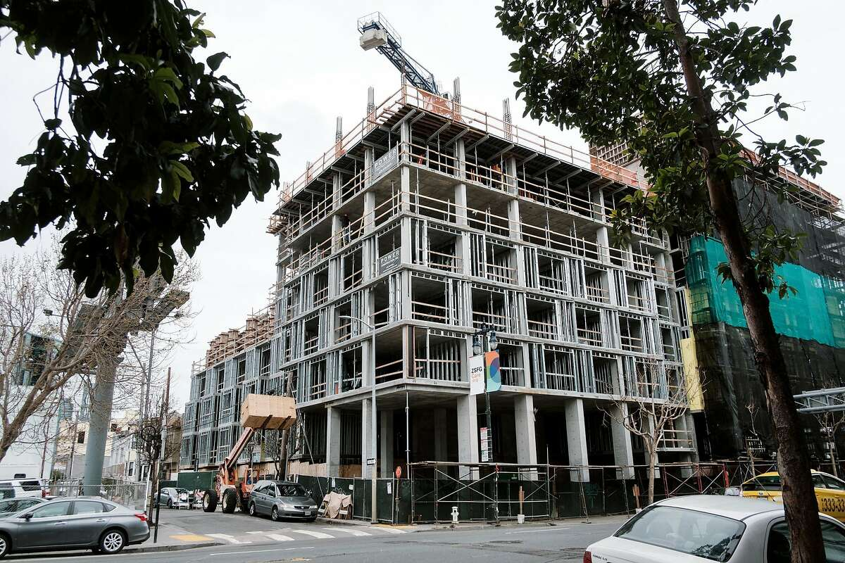 A housing development being built by Power Construction Inc. on 6th Street and Harrison Street in San Francisco, Calif., on Wednesday April 3, 2019.