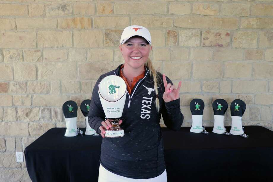 University of Texas golfer Hailee Cooper, a 2018 graduate of Montgomery High School, shared The Bruzzy Challenge individual championship on Tuesday. Photo: Texas Athletics
