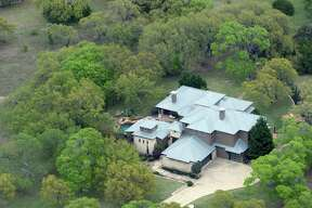 Charles Wheeler's Anaqua Springs Ranch home is seen in an aerial image. The home is where authorities found Wheeler's girlfriend, 37-year-old Nichol Olsen, and her two daughters, 16-year-old Alexa Montez and 10-year-old London Bribiescas, shot to death. The medical examiner ruled the children's deaths homicides and ruled Olsen had killed herself though many of Olsen's friends have rejected any possibility that she would harm herself or her children.