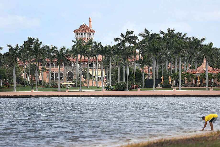 WEST PALM BEACH, FLORIDA - APRIL 03: President Donald Trump's Mar-a-Lago resort is seen on April 03, 2019 in West Palm Beach, Florida. Reports indicate that at over the past weekend a woman from China was arrested and found to be carrying four cellphones and a thumb drive infected with malware after she made her way into the resort during President Trumps visit.(Photo by Joe Raedle/Getty Images) Photo: Joe Raedle, Getty Images