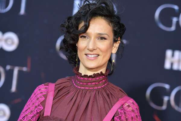 """British actress Indira Varma arrives for the """"Game of Thrones"""" eighth and final season premiere at Radio City Music Hall on April 3, 2019 in New York city. (Photo by Angela Weiss / AFP) (Photo credit should read ANGELA WEISS/AFP/Getty Images)"""