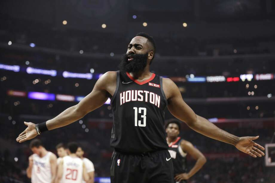 PHOTOS: Where James Harden's points total this season ranks in the history of the NBA James Harden of the Houston Rockets makes a call in the first half of the NBA basketball game against the Los Angeles Clippers on Wednesday, April 3, 2019, in Los Angeles. (AP Photo / Marcio Jose Sanchez) Browse the photos above to see where James Harden's total points this season is in the history of the NBA ... Photo: Marcio Jose Sanchez / Associated Press