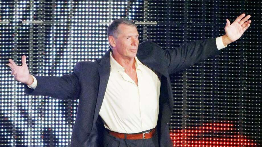 World Wrestling Entertainment Inc. Chairman Vince McMahon is introduced during the WWE Monday Night Raw show at the Thomas & Mack Center August 24, 2009 in Las Vegas, Nevada. Photo: Ethan Miller, ST / 2009 Getty Images