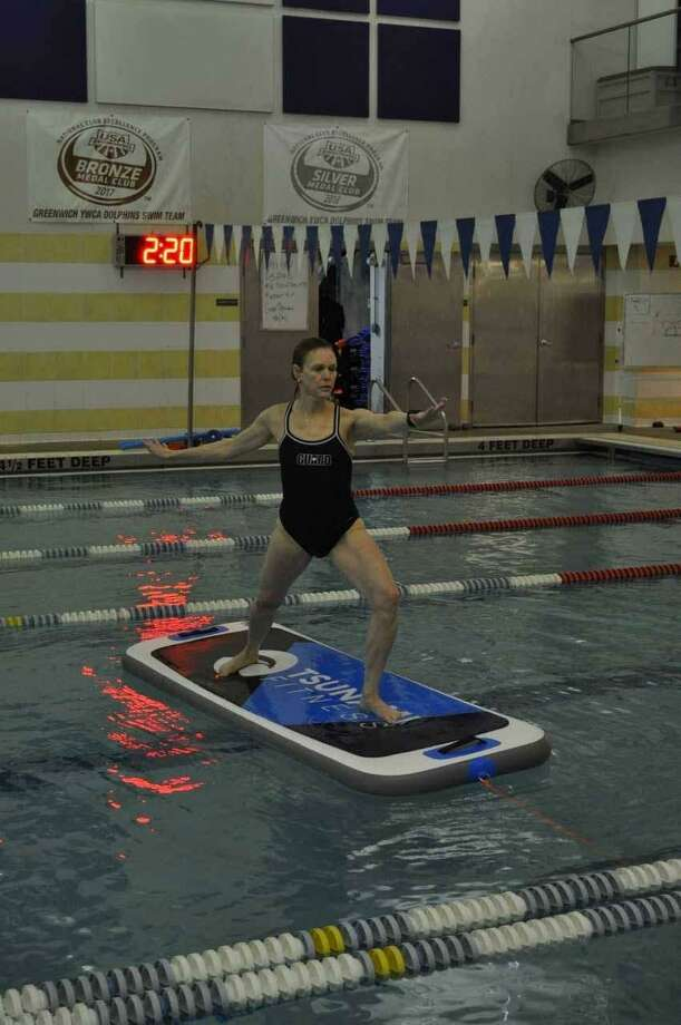 The YWCA Greenwich will host a Fitness Extravaganza this Saturday. It is free and open to adults throughout Greenwich. One new class offered there is called YW Floats. Photo: Contributed