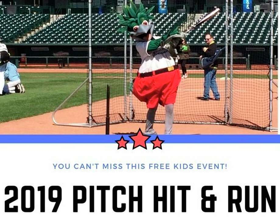 The annual Pitch Hit and Run event will take place from 9-11 a.m. on Saturday, May 4 at Dow Diamond.