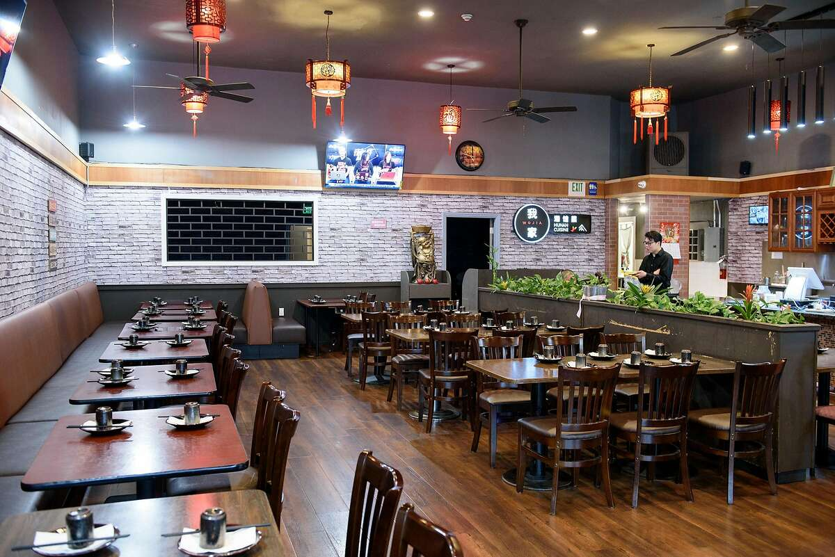 An interior view of the main seating area at Wojia Hunan Cuisine in Albany, Calif., on Thursday March 28, 2019.