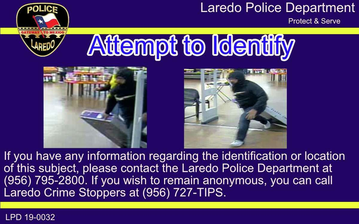 Laredo police said the subject in this photo is wanted for questioning in a theft of a TV that occurred on March 22 in the 4400 block of U.S. 83.