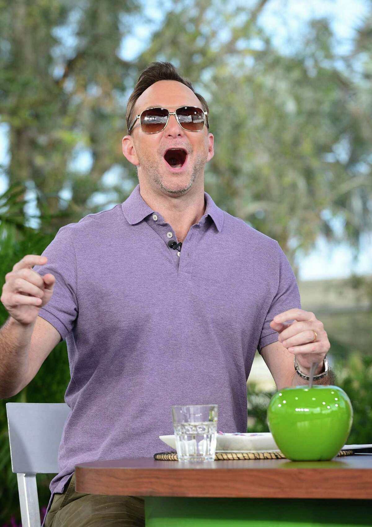 ORLANDO, FL - OCTOBER 04: 'The Chew' co-host Clinton Kelly broadcasts from the 22nd Epcot International Food & Wine Festival at Epcot Center at Walt Disney World on October 4, 2017 in Orlando, Florida. (Photo by Gerardo Mora/Getty Images)