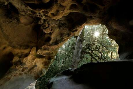 Caves are carved out of the numerous sandstone formations at Castle Rock State Park, where California's best spring through-hike begins. Photo: Michael Macor / The Chronicle 2011