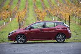 The 2019 Nissan Leaf again sets a standard in the growing market for mainstream electric vehicles by offering customers great range, advanced technologies and a dynamic design. (Motor Matters photos)