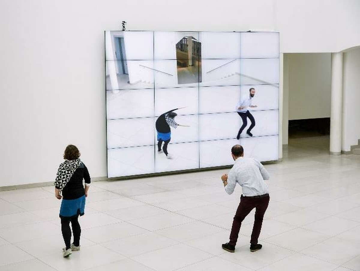 """William Forsythe's """"City of Abstracts,"""" an installation involving a video wall, camera, and computer software, will be among works on view this summer at Museum of Fine Arts, Houston's Cullinan Hall."""