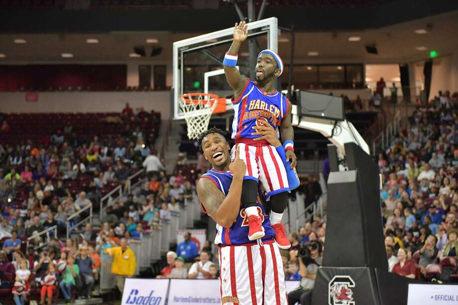 The Harlem Globetrotters will be at Western Connecticut State University in Danbury April 5. Photo: Harlem Globetrotters / Contributed Photo / Brett Meister