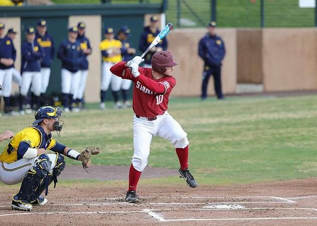 Stanford catcher Maverick Handley an offensive and defensive threat