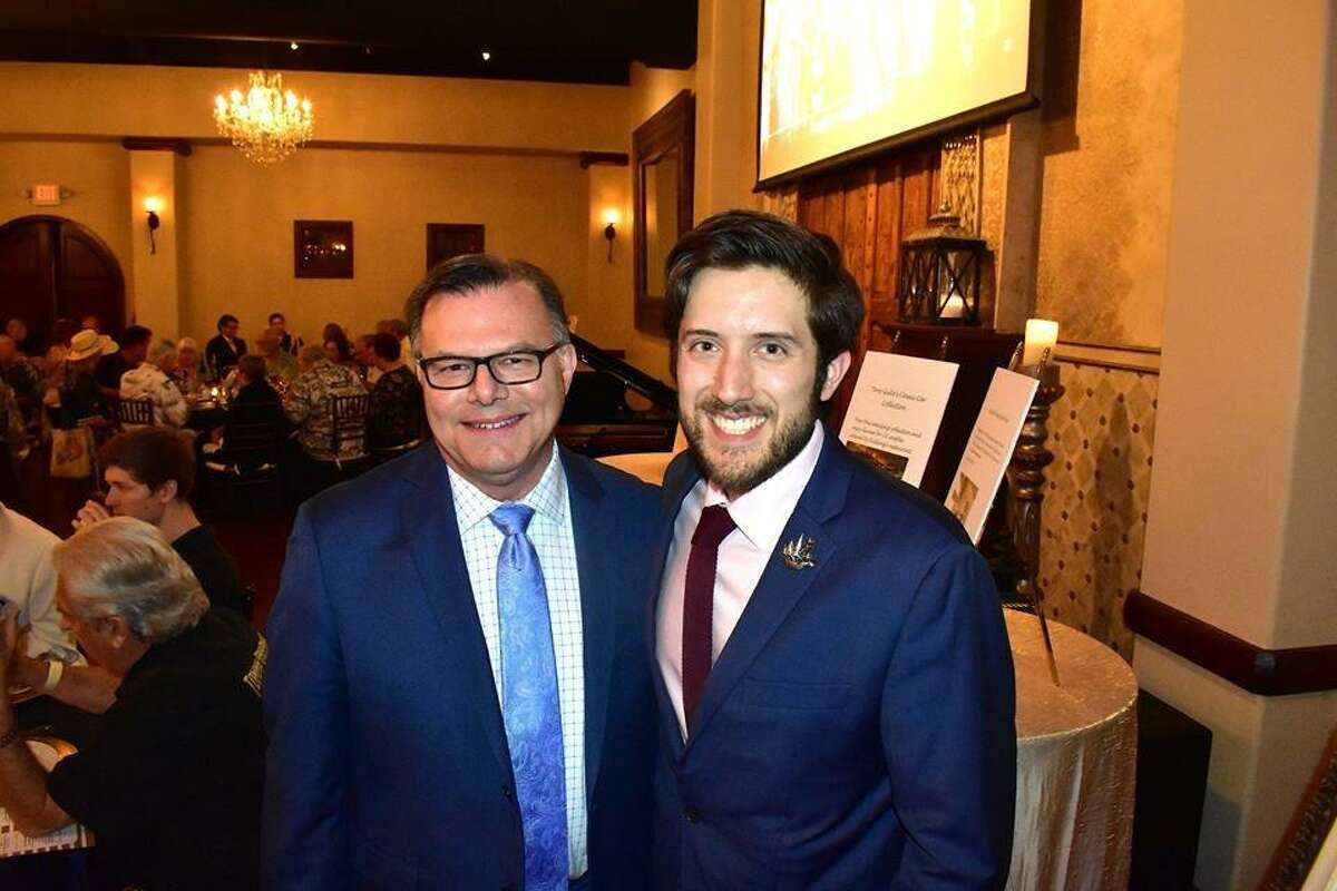 """From left Craig Stephan and Ian Jose Ramirez at the Crighton Theatre fundraiser """"Anchors Aweigh"""" on March 28 at Madera Estates in Conroe."""